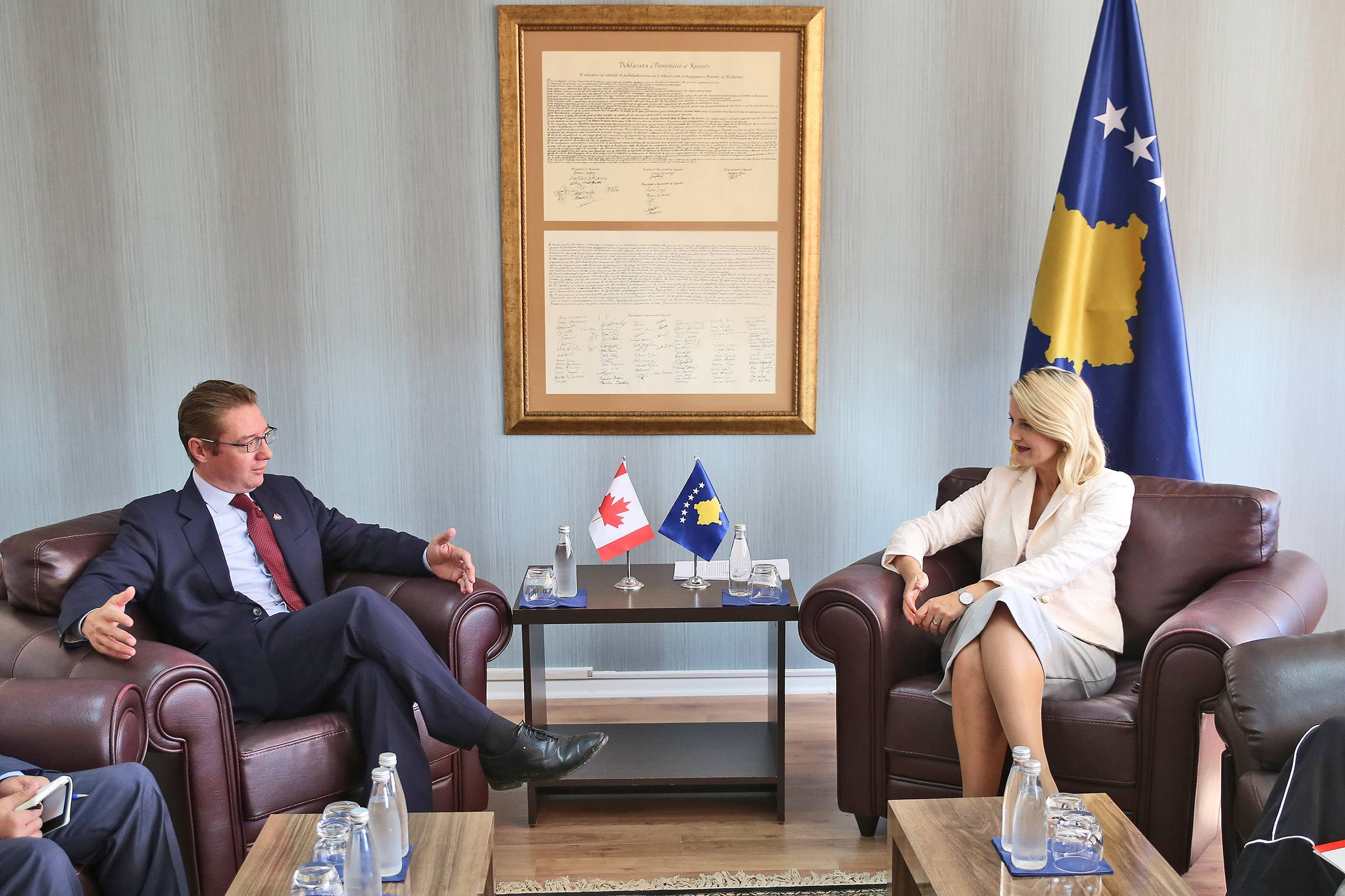 Minister Hoxha hosted Ambassador Maksymiuk in a meeting, Kosovo and Canada - an exemplary friendship