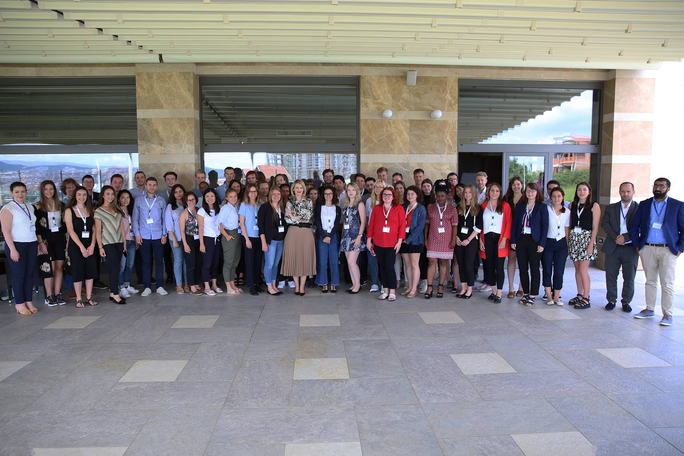 Minister Hoxha before the students of the Summer Academy: The European Agenda unites the region
