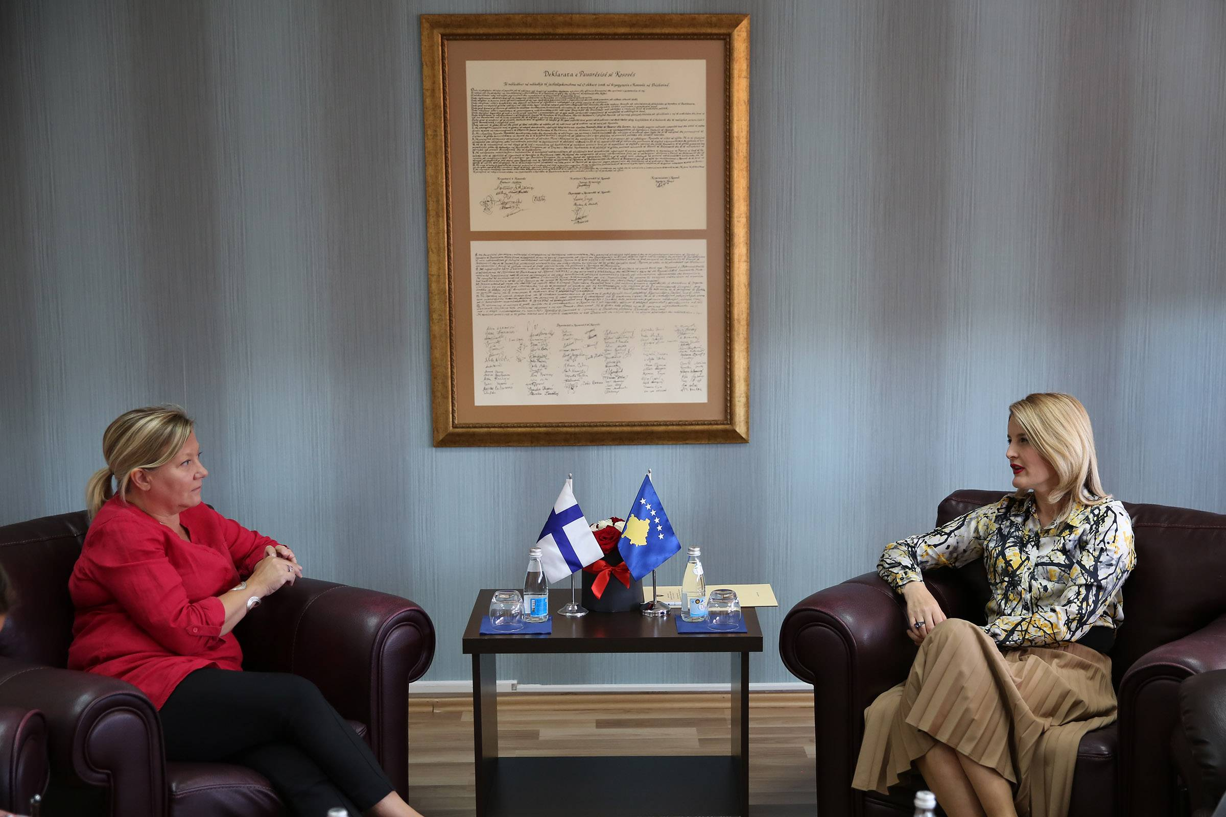 Minister Hoxha met with Ambassador Stjernvall: We look forward to finalizing positive results during Finland's EU Presidency
