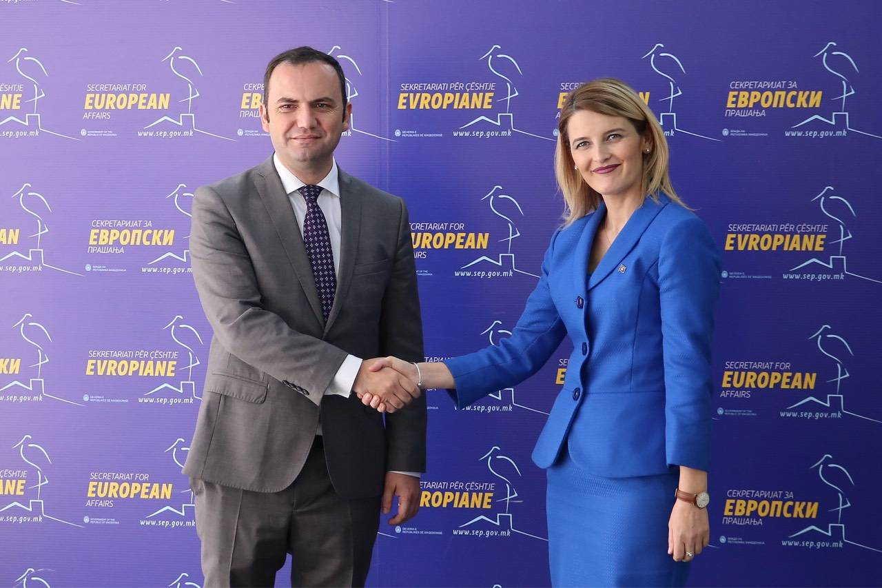 Hoxha: Kosovo and Macedonia will continue to further deepen cooperation in many fields