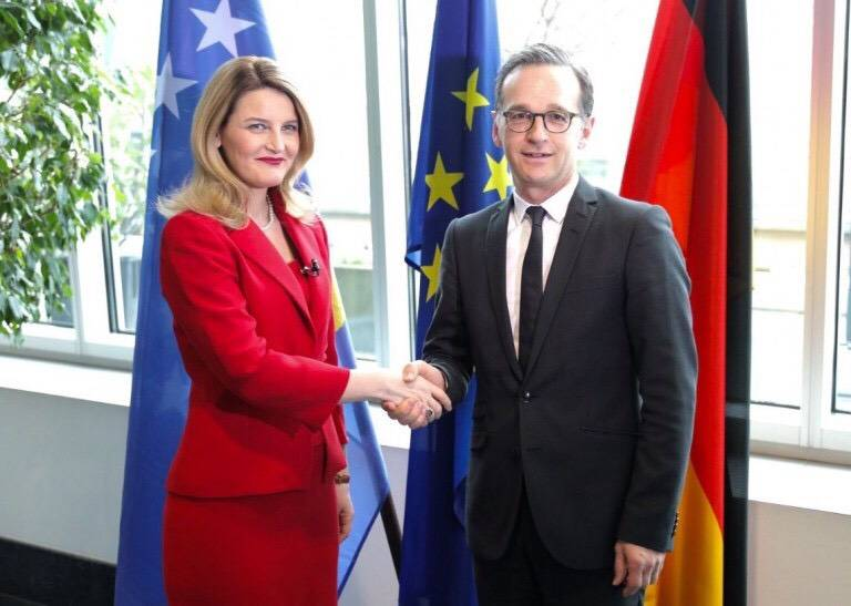 Minister Hoxha congratulated the creation of the new German Government and the former colleague, Heiko Maas