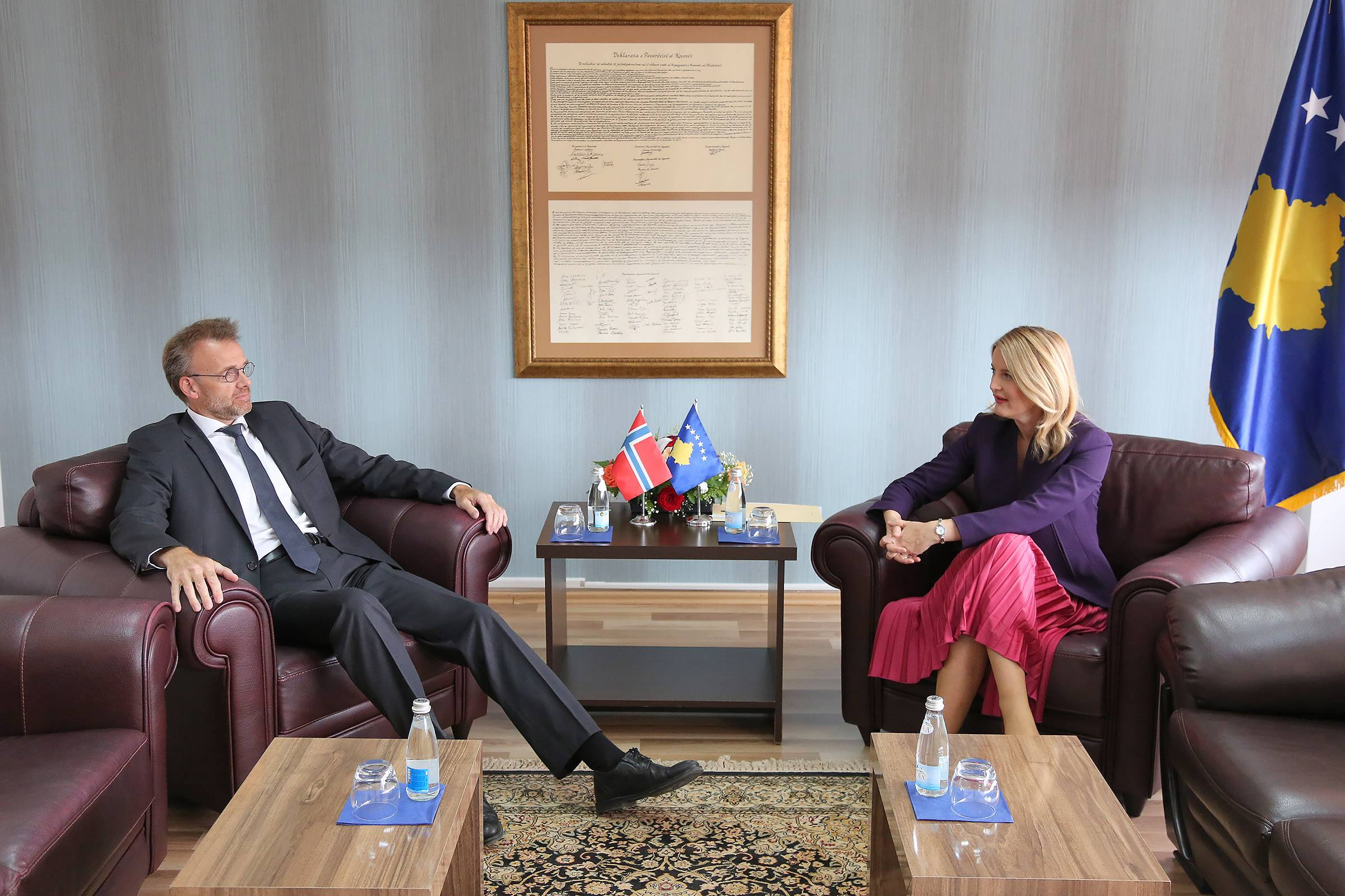 Minister Hoxha praised the commitment of Ambassador Sjaastad: Norway's support is a value of the state of Kosovo