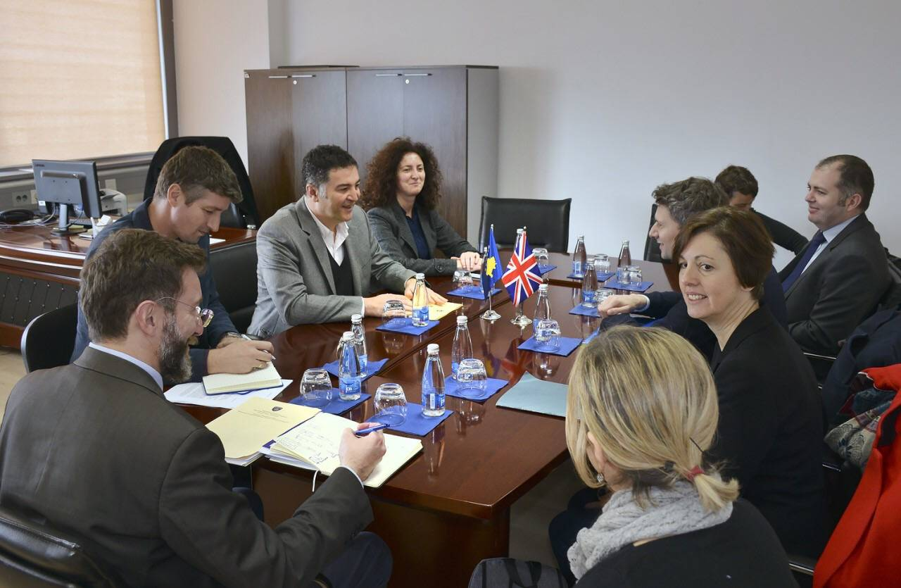 Deputy Minister Çelaj met with Michael Davidson- Soon new agreements between Kosovo and the United Kingdom to be reached