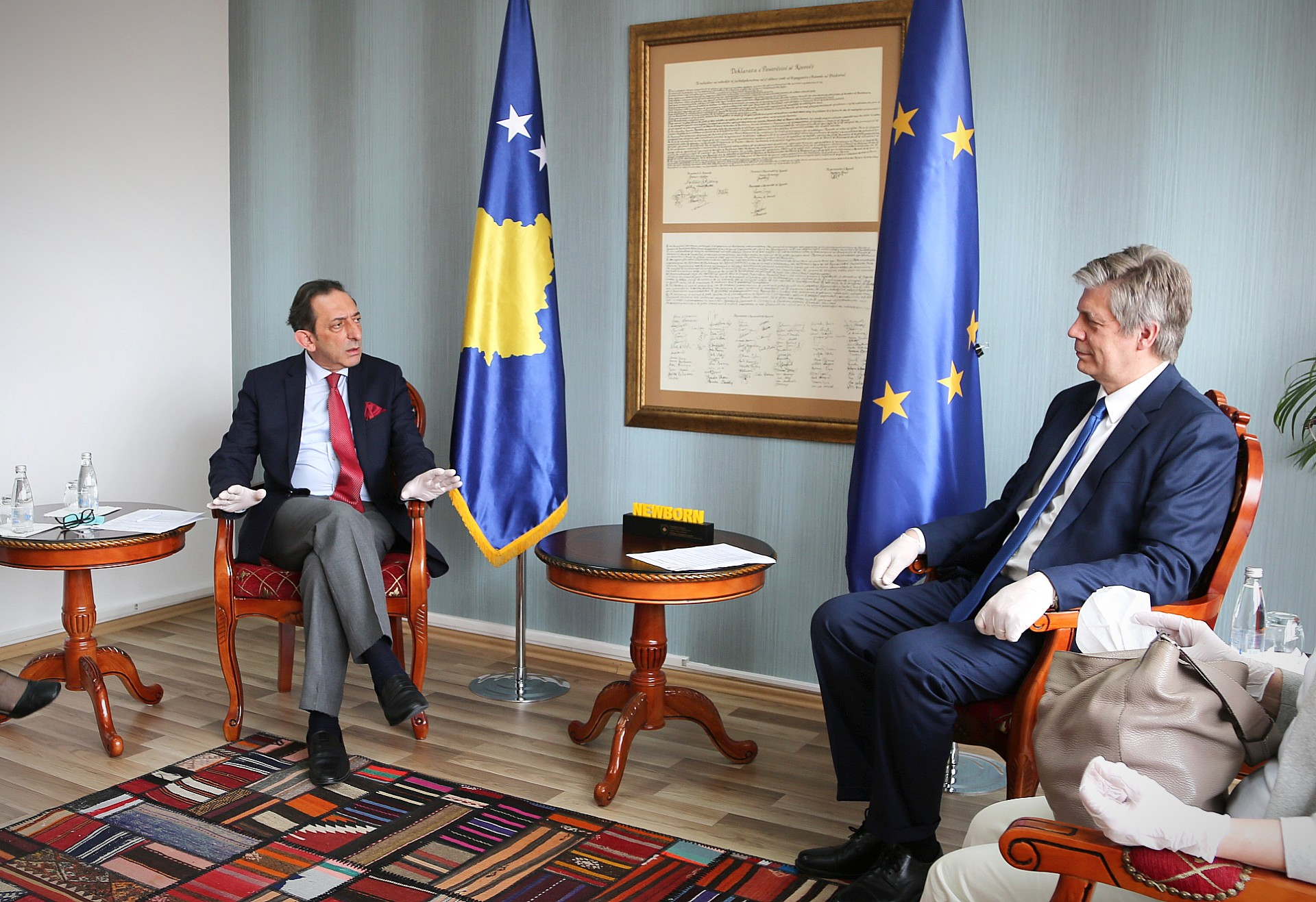 Incumbent Minister Reka received Mr. Wigemark, Head of the EULEX Mission